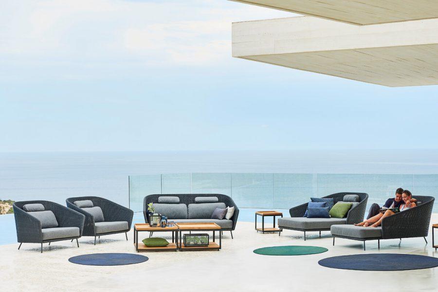 Mega sofa 2 osobowa z technorattanu Kolekcja Mega Cane-line