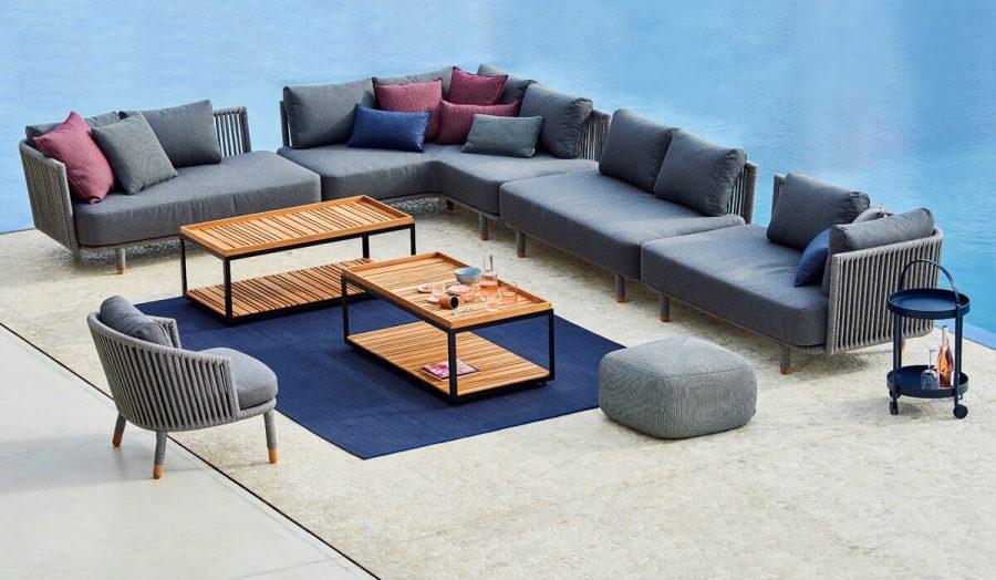 Moments narożna sofa ogrodowa modułowa fotel ogrodowy sofy podwójne