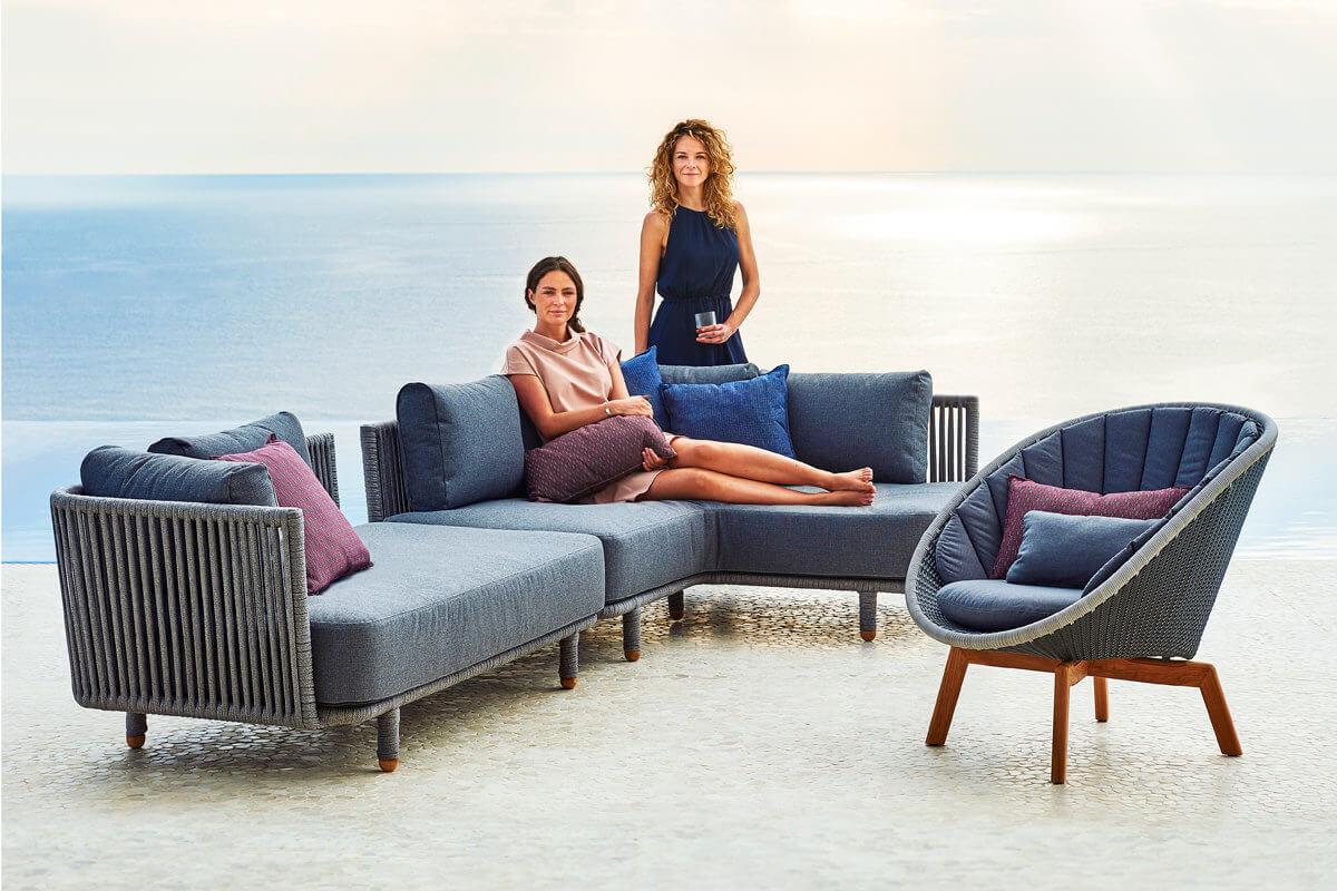 Moments narożna sofa ogrodowa modułowa