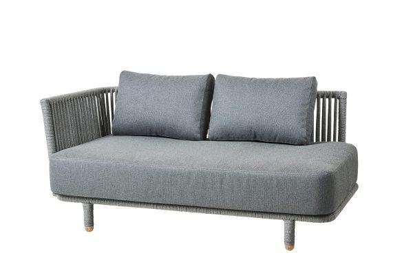 Moments sofa leżanka ogrodowa 2 osobowa prawa kolekcja mebli luksusowych do ogrodu Cane-line