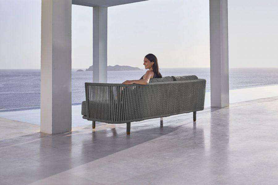 Moments sofa ogrodowa 3 osobowa wykonana z liny polipropylenowej