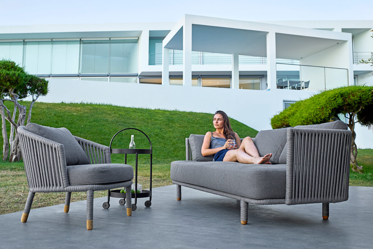 Moments sofa ogrodowa 3 osobowa fotel ogrodowy meble ogrodowe Cane-line