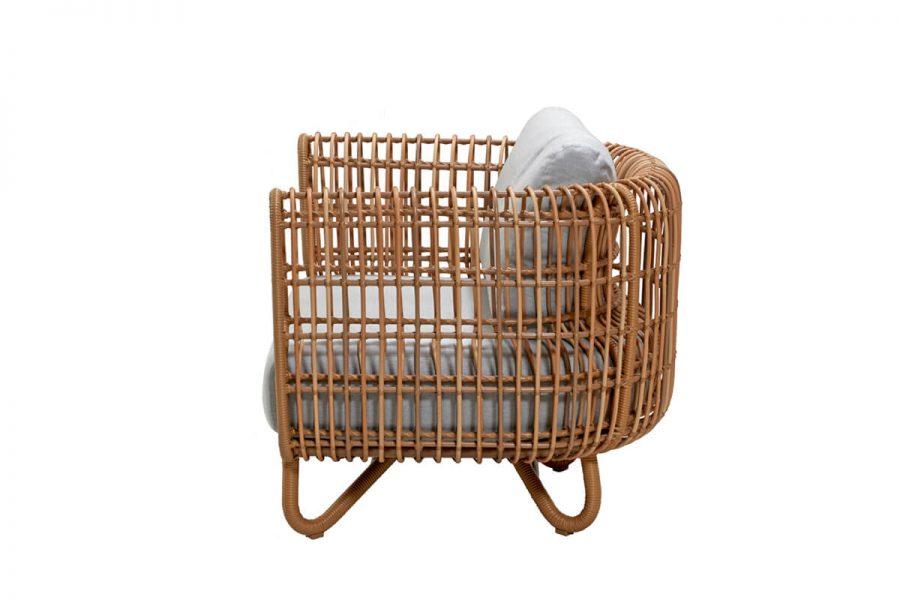 Nest fotel ogrodowy z technorattanu z podłokietnikami plecionymi  Kolekcja Nest Cane-line