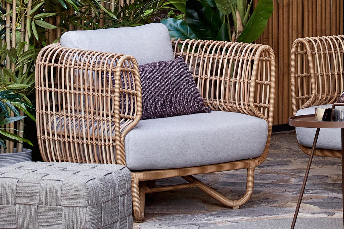 Nest fotel ogrodowy z technorattanu nowoczesny   Kolekcja Nest Cane-line