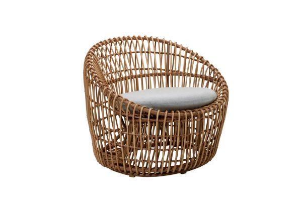 Nest okrągły fotel ogrodowy z technorattanu | Kolekcja Nest Cane-line
