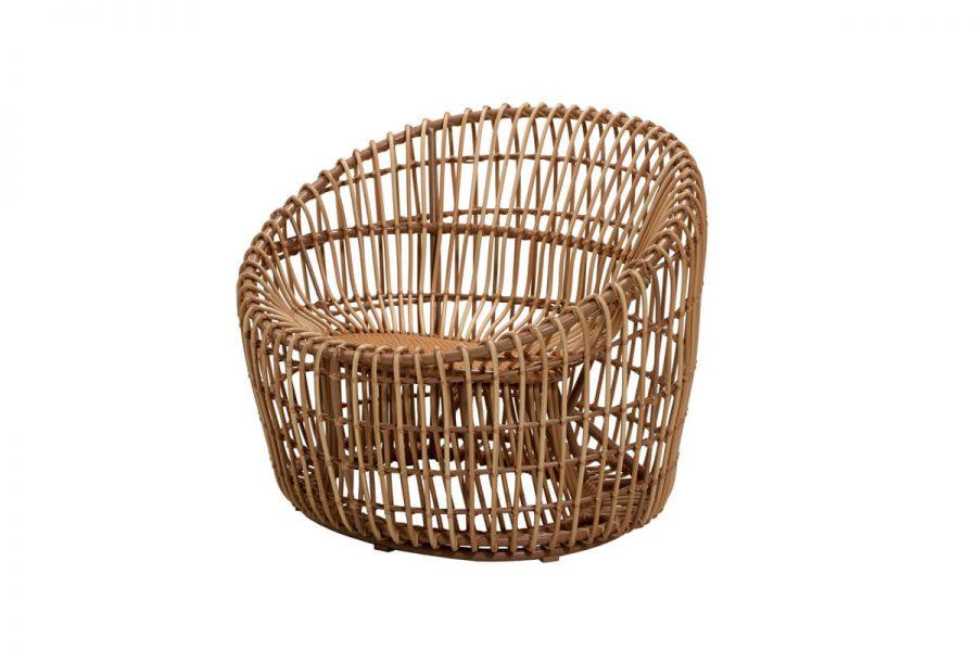 Nest okrągły fotel ogrodowy z technorattanu   Kolekcja Nest Cane-line