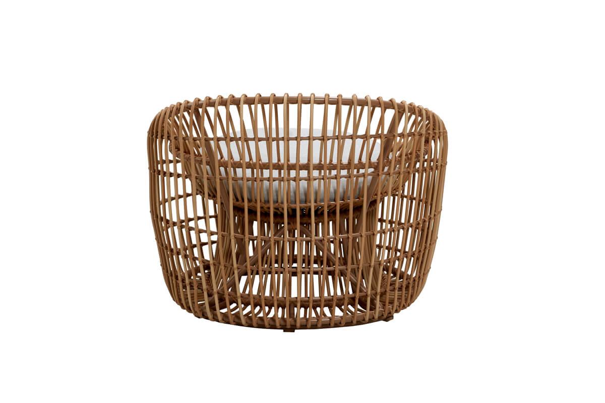 Nest okrągły fotel ogrodowy z technorattanu wikliny   Kolekcja Cane-line