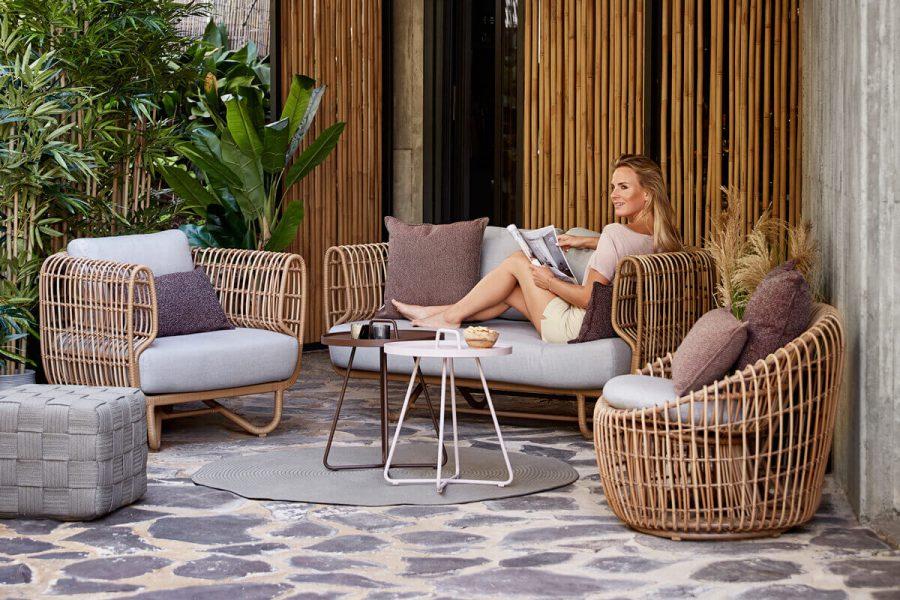 Nest sofa ogrodowa 2 osobowa z technorattanu fotele ogrodowe   Kolekcja Nest Cane-line