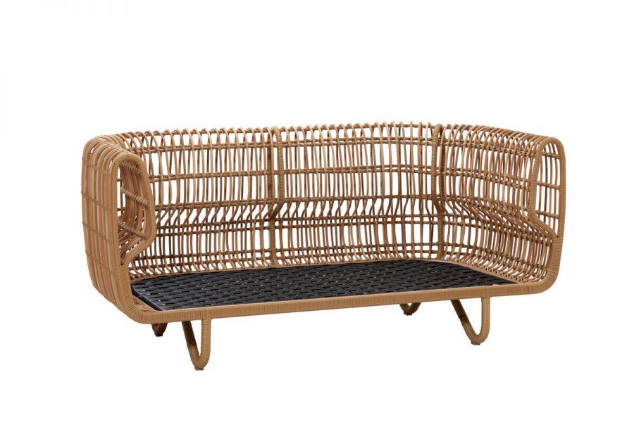 Nest sofa ogrodowa z technorattanu   Kolekcja Nest Cane-line