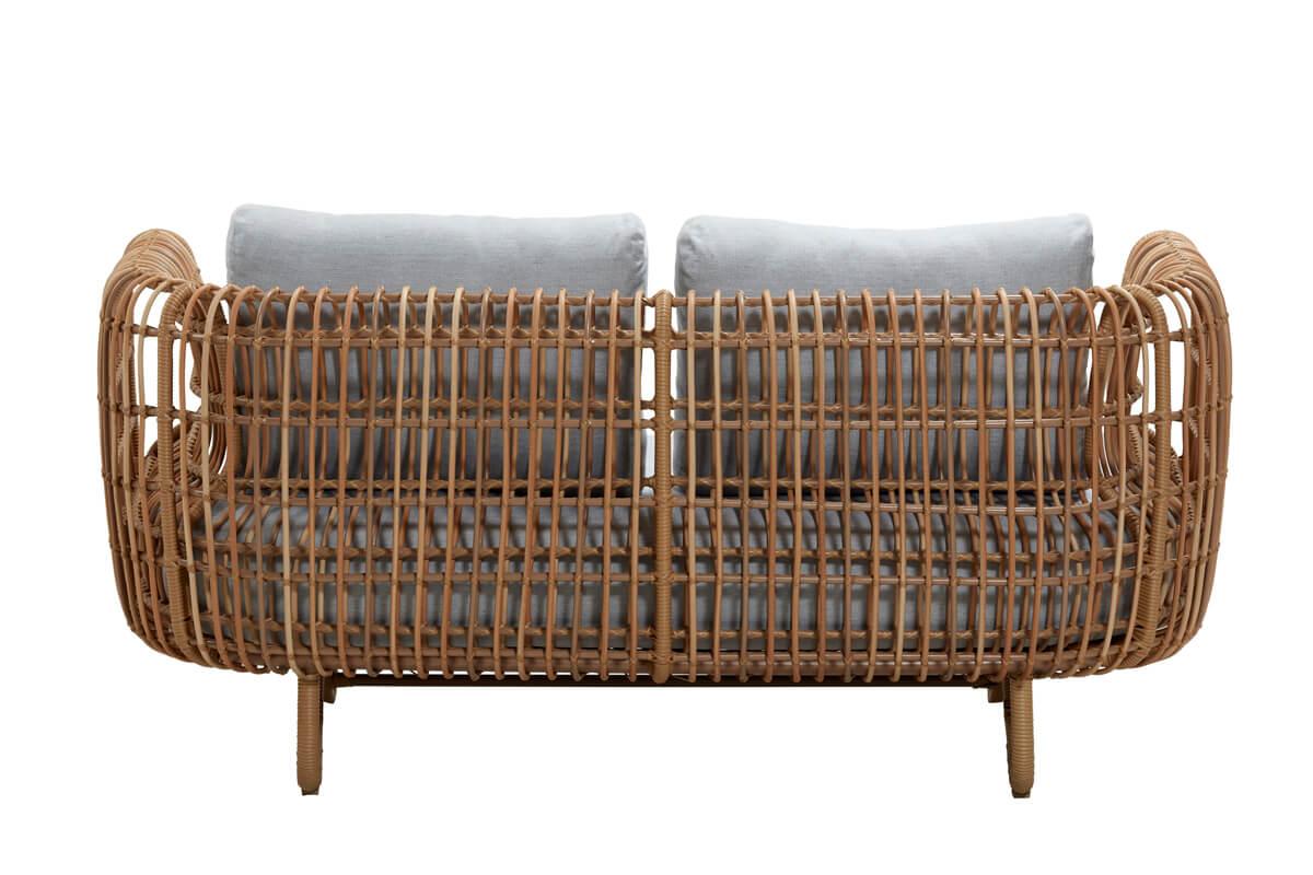 Nest sofa ogrodowa 2 osobowa z technorattanu styl boho   Kolekcja Nest Cane-line