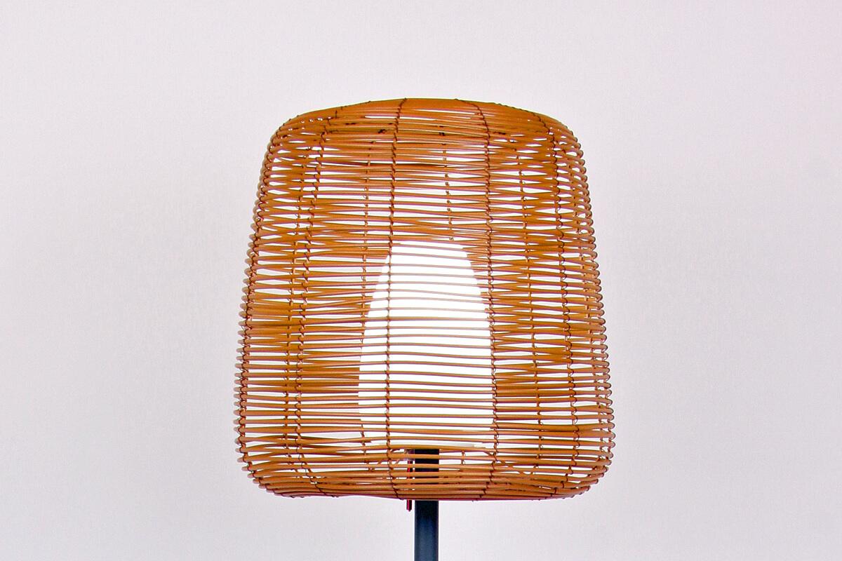 Boheme lampa stojąca ogrodowa LED z kloszem z technorattanu | Lumisky