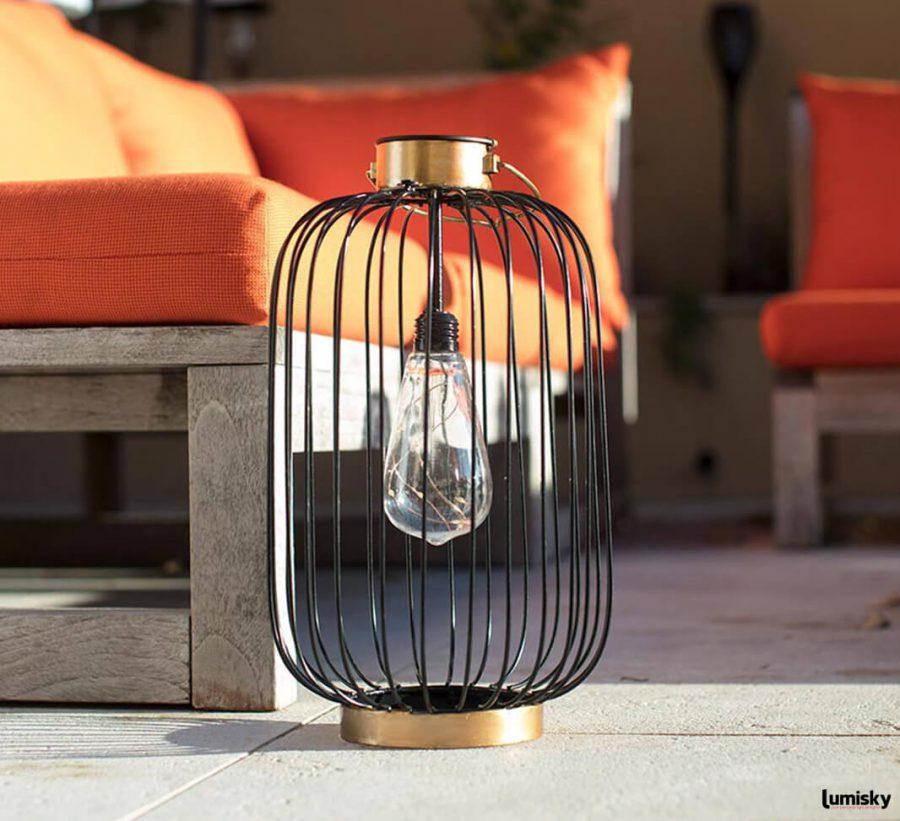 Coco Slim lampa solarna lampion ogrodowy LED lampa wisząca do ogrodu industrialna Lumisky