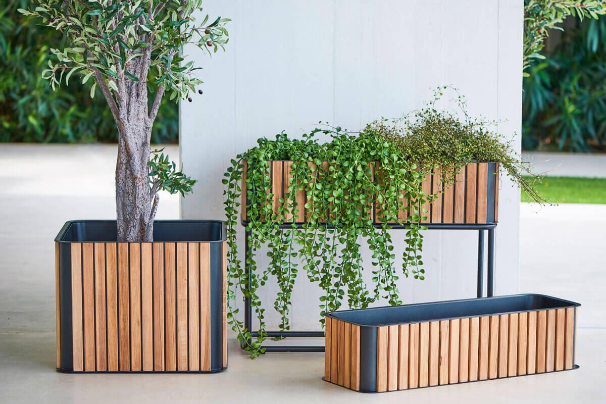 Combine donica ogrodowa prostokątna donice ogrodowe z drewna teakowego