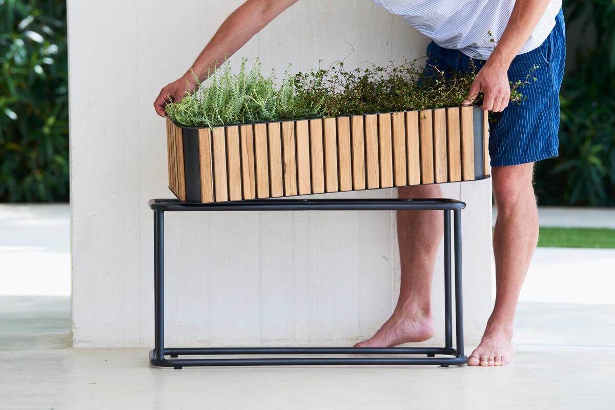 Combine donica ogrodowa prostokątna na podstawie aluminiowej