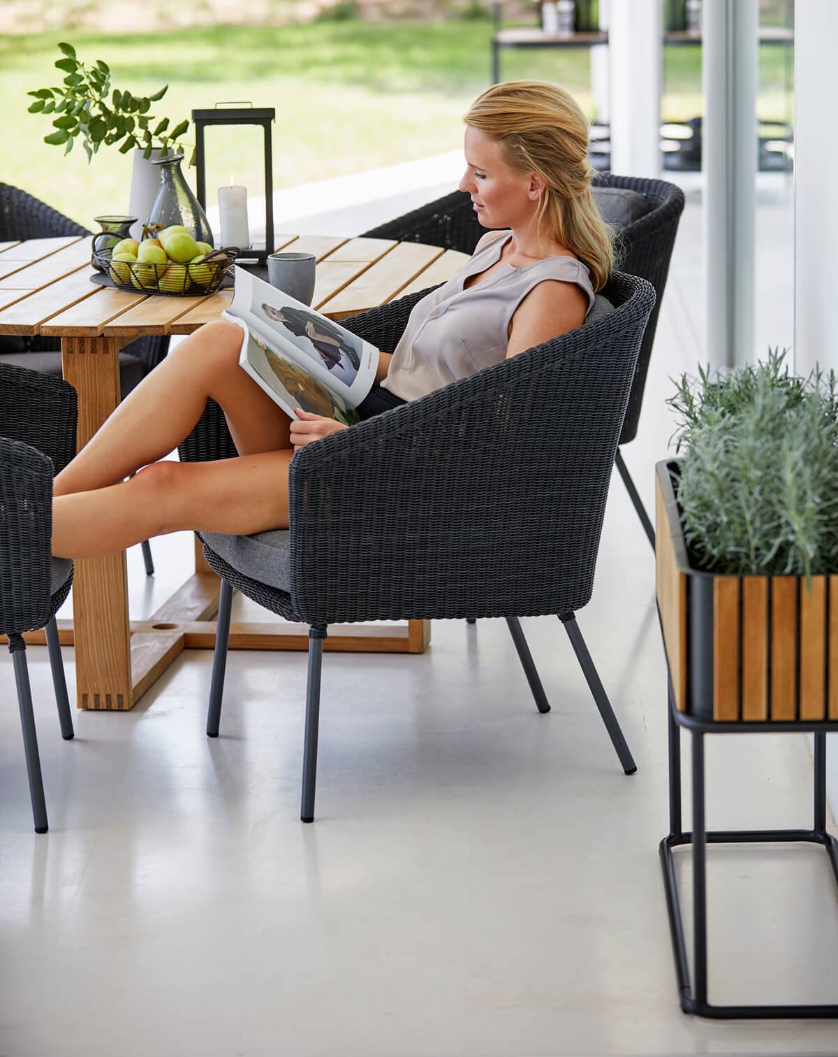 Combine donica ogrodowa prostokątna fotele ogrodowe krzesła Mega