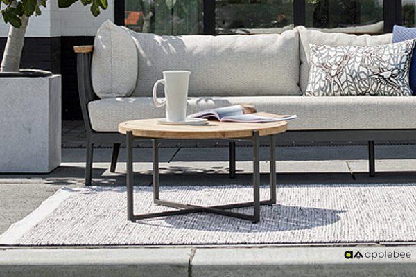 Condor ogrodowy stolik kawowy z aluminium i drewna teakowego stoliki ogrodowe Apple Bee