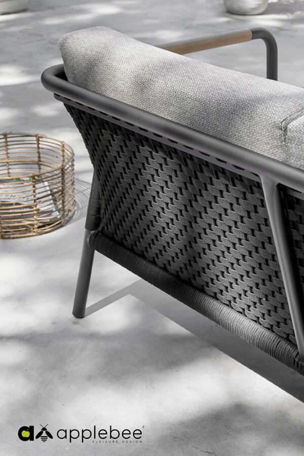 Elle Rope ekskluzywny zestaw wypoczynkowy z aluminium Apple Bee