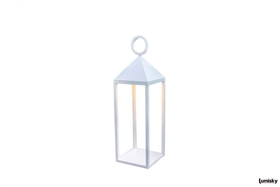 Nuna nowoczesna lampa ogrodowa LED biała latarnia | Lumisky