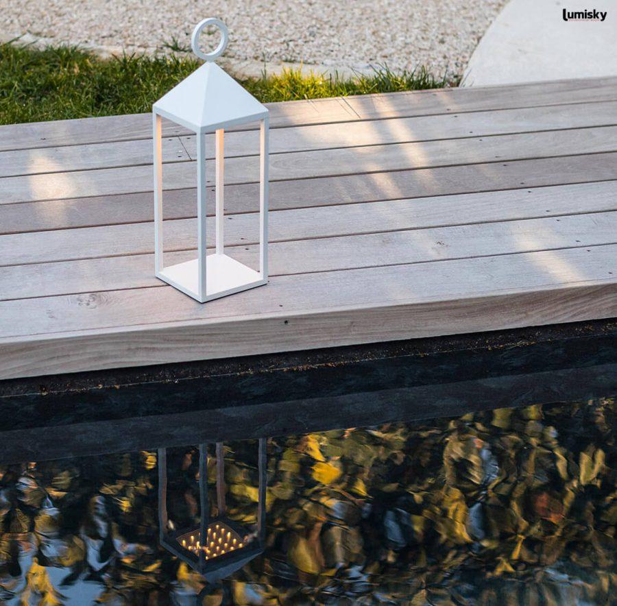 Nuna nowoczesna lampa ogrodowa LED latarnia Lumisky