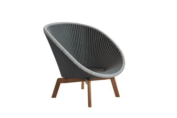 Peacock fotel ogrodowy technorattan szary mix bez poduszek