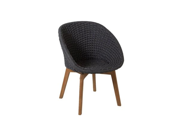 Peacock krzesło ogrodowe Soft Rope ciemnoszare