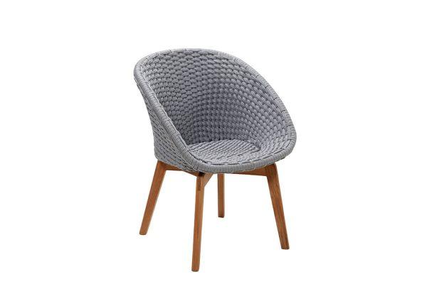 Peacock krzesło ogrodowe Soft Rope jasnoszare