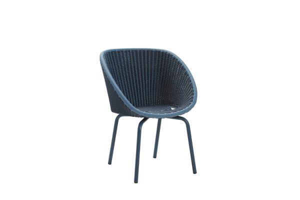 Peacock krzesło ogrodowe z technorattanu niebieskie