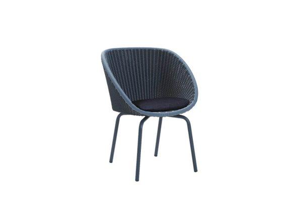 Peacock krzesło ogrodowe z technorattanu niebieskie poduszka ciemnoniebieska