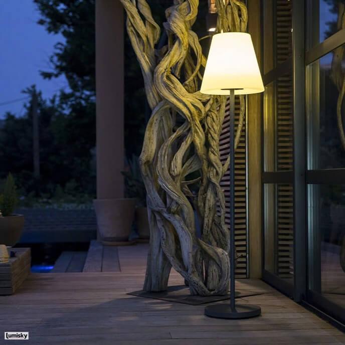 Standy bezprzewodowa lampa stojąca solarna LED Lumisky