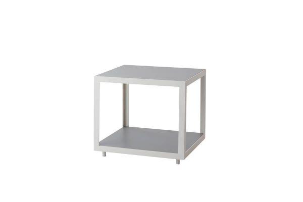 Level kwadratowy mały stolik kawowy do ogrodu 48 cm aluminium blat ceramiczny Cane-line