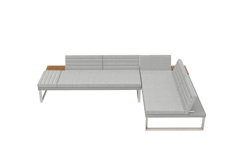 Oslo sofa ogrodowa leżanka - propozycja ustawienia - 2 sofy Oslo   Twoja Siesta