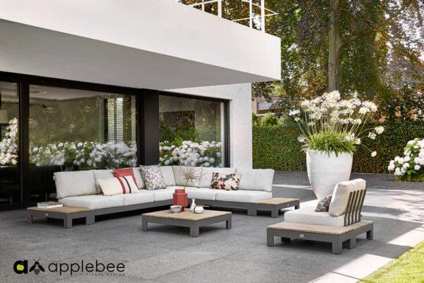 Sticks and More nowoczesny modułowy narożnik ogrodowy Apple Bee luksusowe meble do ogrodu