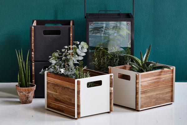 Box designerskie skrzynki ogrodowe aluminium drewno teakowe | Cane-line