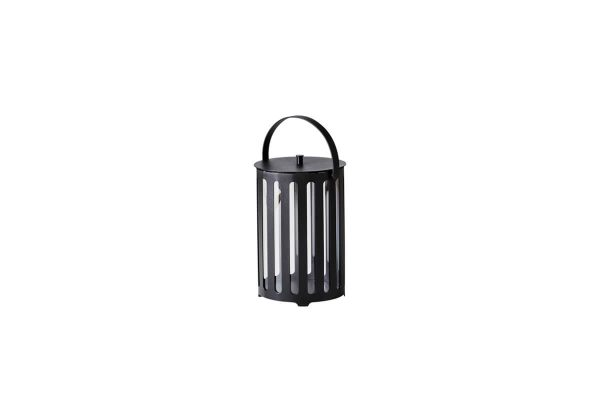 Lighttube ogrodowy lampion latarenka z aluminium mały rozmiar S ciemnoszare aluminium Cane-line luksusowe meble ogrodowe oświetlenie ogrodowe
