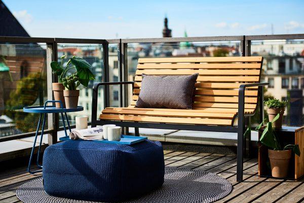 Parc ławka ogrodowa z drewna teakowego nowoczesna ławka do ogrodu Cane-line