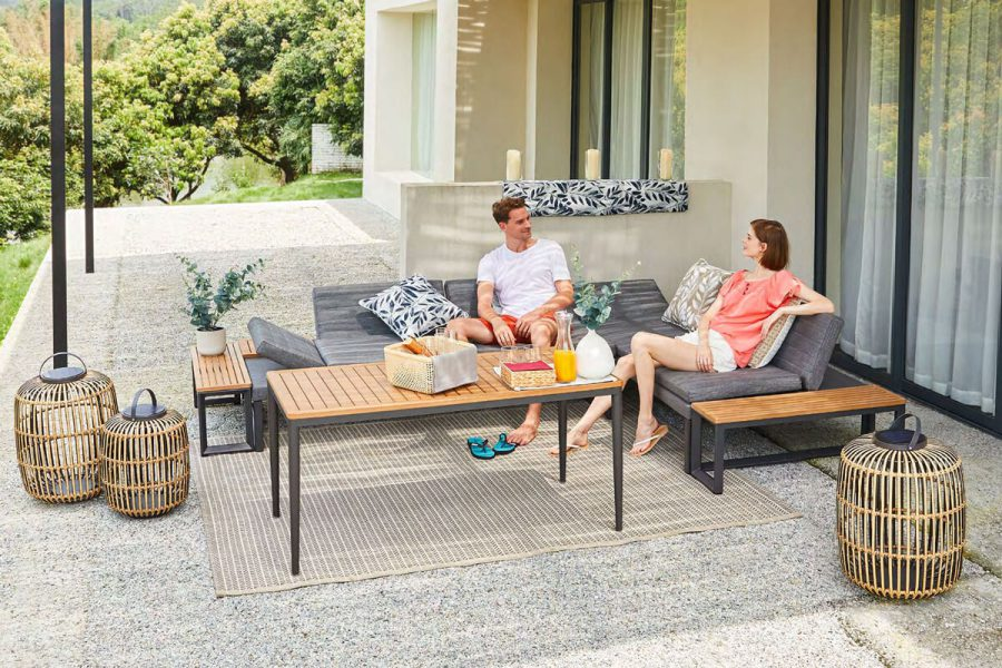 Bodo nowoczesna sofa ogrodowa leżanka modułowa Twoja Siesta