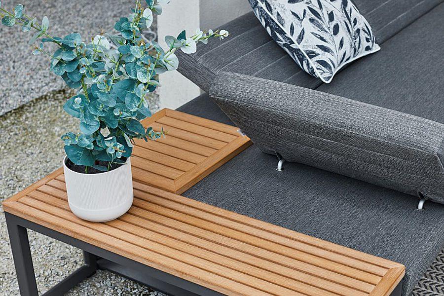 Bodo VIP zestaw wypoczynkowy meble antracytowy narożnik do ogrodu Twoja Siesta