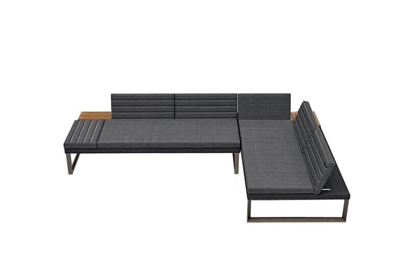 Bodo VIP zestaw wypoczynkowy meble ogrodowe aluminiowe narożnik ogrodowy sofy modułowe Twoja Siesta
