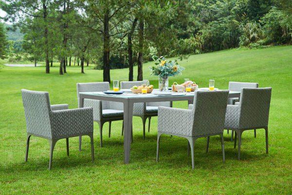 Bonn ogrodowy zestaw obiadowy dla 6 osób stół ogrodowy krzesła ogrodowe Twoja Siesta