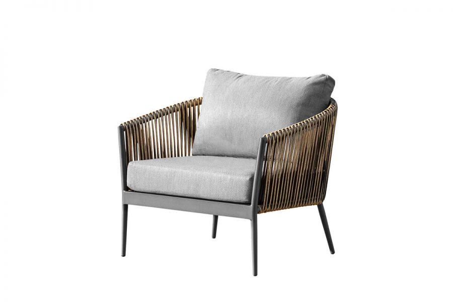 Groppo ogrodowy komplet wypoczynkowy fotel ogrodowy aluminium technorattan Twoja Siesta nowoczesne meble ogrodowe