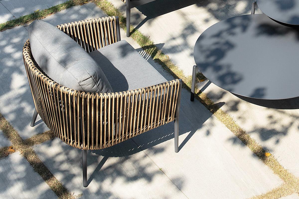 Groppo ogrodowy komplet wypoczynkowy fotel ogrodowy technorattanowy aluminium Twoja Siesta luksusowe meble ogrodowe