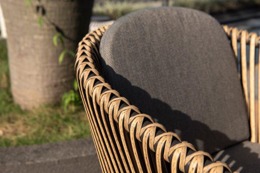 Groppo ogrodowy zestaw stołowy 6 osób krzesła ogrodowe technorattanowe Twoja Siesta luksusowe meble ogrodowe technorattan