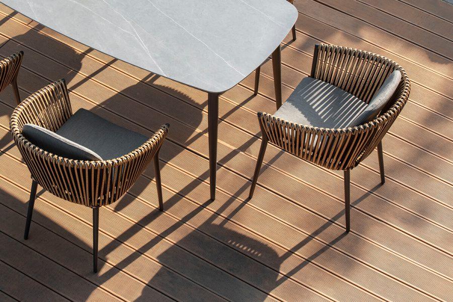 Groppo ogrodowy zestaw stołowy 6 osób stół krzesła ogrodowe zestaw mebli Twoja Siesta luksusowe meble ogrodowe technorattanowe