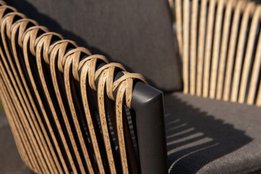 Groppo ogrodowy zestaw stołowy krzesła technorattan aluminium Twoja Siesta luksusowe meble ogrodowe technorattan