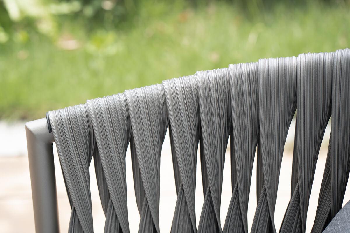 Manarola ogrodowy zestaw wypoczynkowy podłokietnik pleciony płaski technorattan 50 mm Twoja Siesta