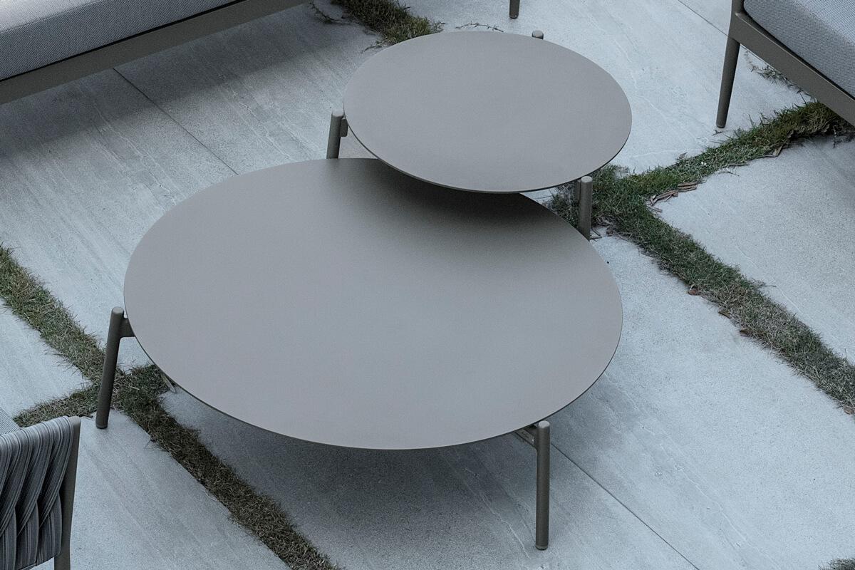 Manarola ogrodowy zestaw wypoczynkowy niskie stoliki kawowe Twoja Siesta