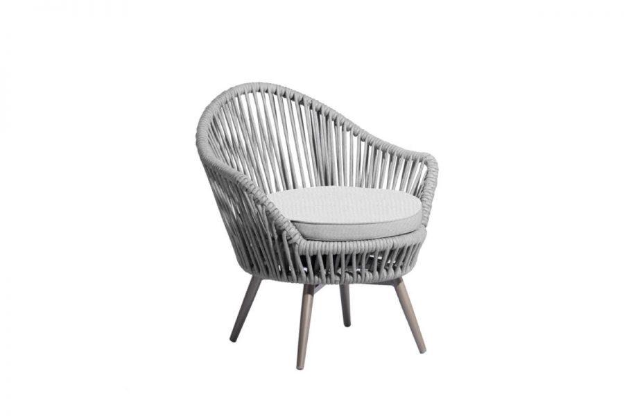 Oslo fotel ogrodowy obrotowy z grubej liny Twoja Siesta
