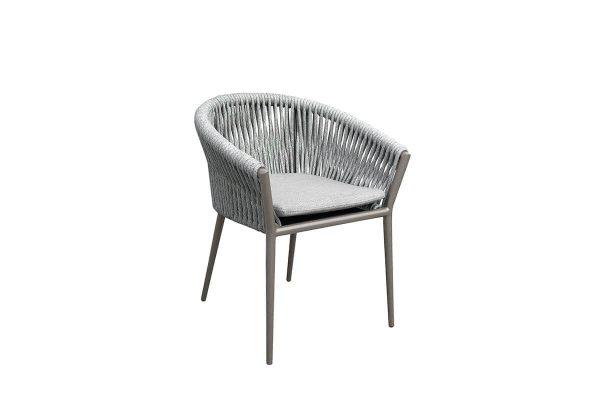 Oslo krzesło ogrodowe z grubej liny aluminium szarobeżowe Twoja Siesta