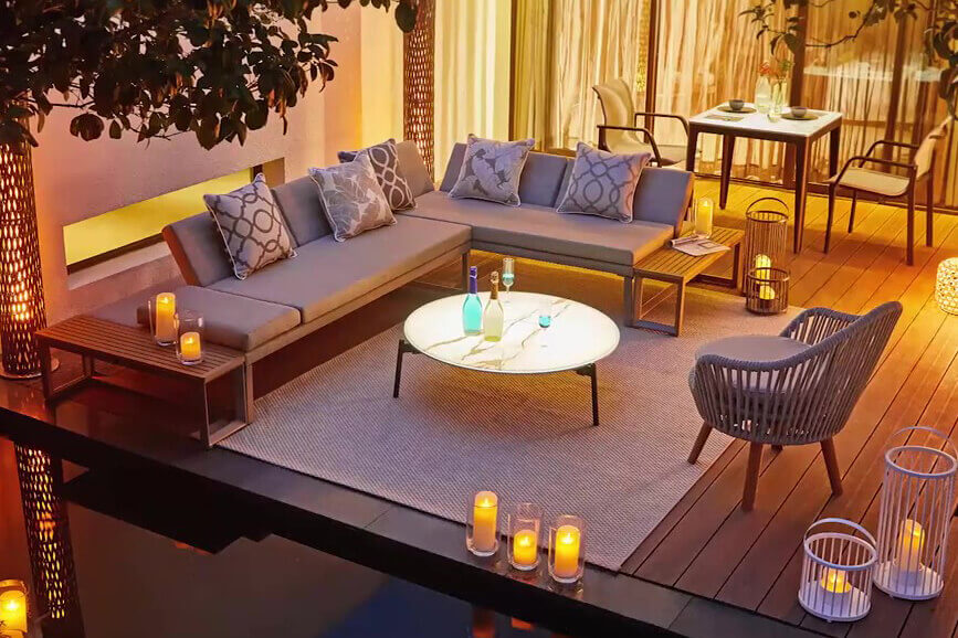 Oslo VIP zestaw wypoczynkowy meble ogrodowe z aluminium Twoja Siesta