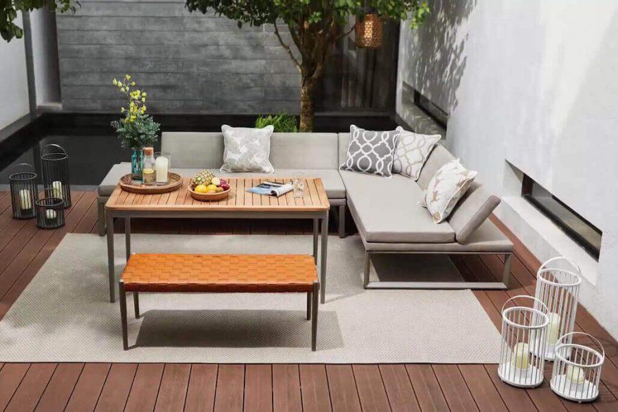 Oslo VIP zestaw wypoczynkowy meble ogrodowe z aluminium Twoja Siesta luksusowe meble ogrodowe